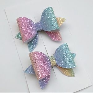 Other - Rainbow Glitter Bows